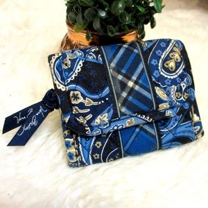 Vera Bradley Trifold Wallet Paisley and Plaid